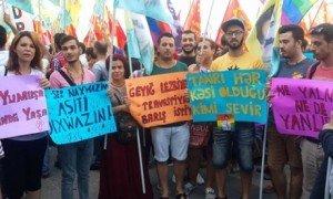 Javid Nabiyev lors d'une marche de protestation en Azerbaïdjan Photo-Javid Nabiyev