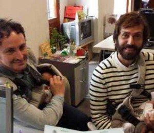 Antonio Fernandez et Luis Delgado avec leurs bébés