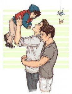couple gay avec un bebe